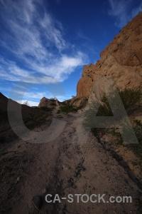 Las flechas gorge quebrada de bush mountain rock.