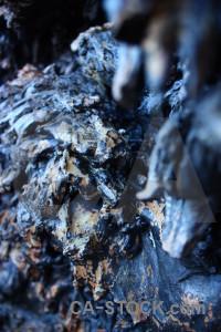 Lava rock volcanic texture blue.
