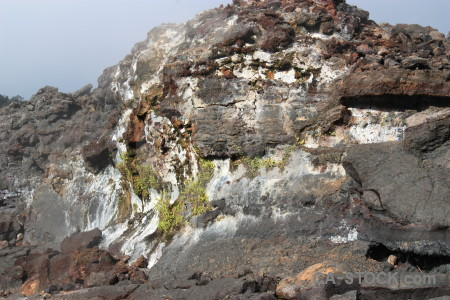 Lava volcanic crater.