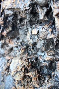 Lava volcanic texture rock.