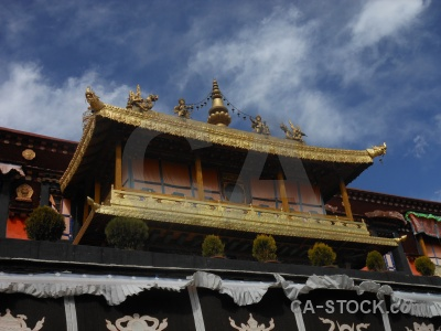 Lhasa cloud building sky temple.