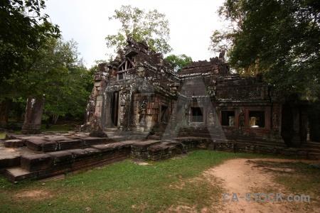 Lichen banteay kdei grass buddhist buddhism.