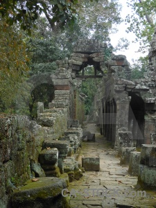 Lichen siem reap column ruin stone.