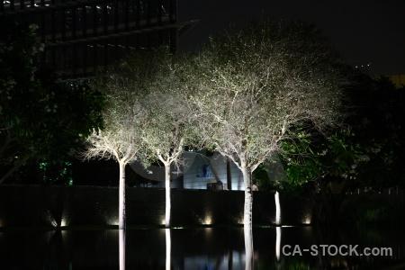 Light building dubai asia night.