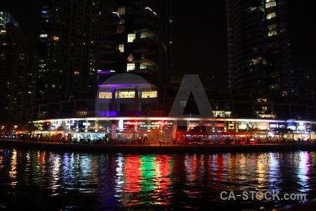 Light building dubai uae western asia.