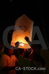 Light festival southeast asia loi krathong person.