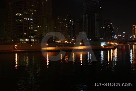 Light reflection uae night asia.
