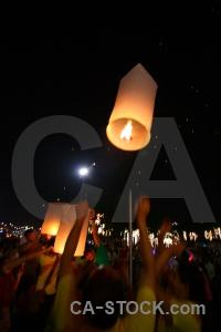 Light thailand loi krathong southeast asia full moon festival.