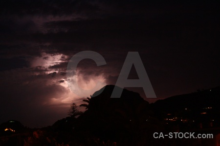 Lightning silhouette javea montgo spain.