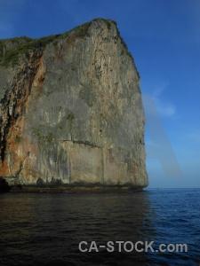 Limestone cliff thailand sky asia.