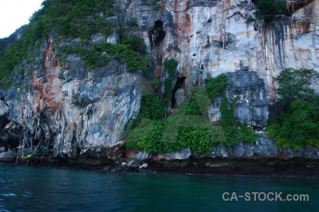 Limestone ko phi leh asia water island.