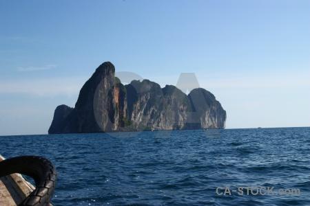 Limestone ko phi leh sea cliff thailand.
