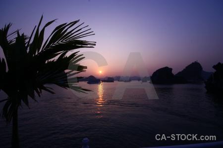 Limestone sea silhouette southeast asia unesco.