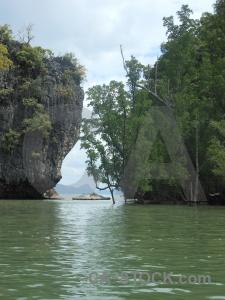 Limestone sky cliff thailand mangrove.