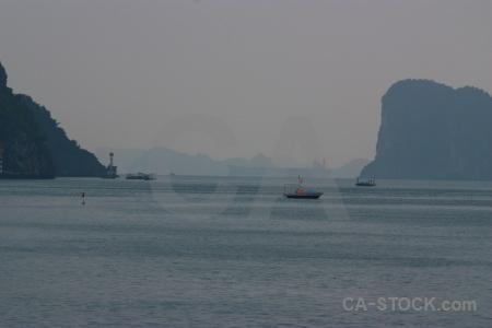 Limestone vietnam sky boat asia.