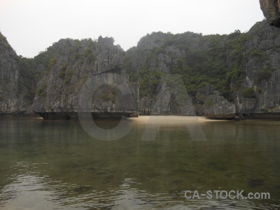 Limestone vinh ha long sand asia rock.