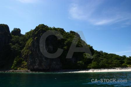 Limestone water phi island cloud thailand.