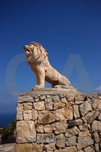Lion spain statue wall javea.