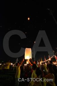 Loi krathong bangkok asia full moon festival lantern.