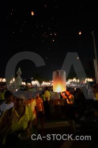 Loi krathong lantern asia person festival.