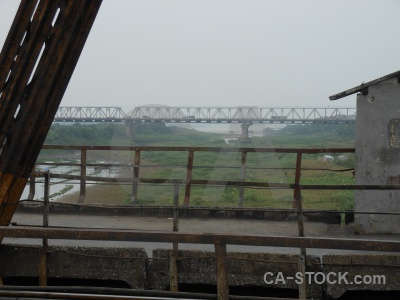 Long bien bridge southeast asia cantilever hanoi sky.