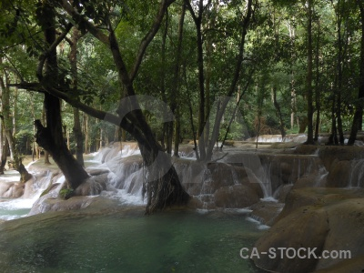 Luang prabang mud jungle waterfall water.