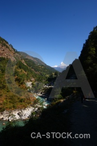 Machapuchre river south asia water himalayan.