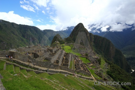 Machu picchu ruin peru cloud mountain.