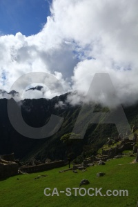 Machu picchu unesco peru stone cloud.