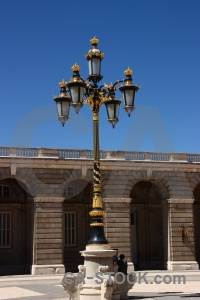 Madrid lamp spain sky palace.