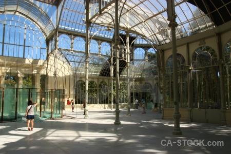 Madrid parque del retiro sky europe person.