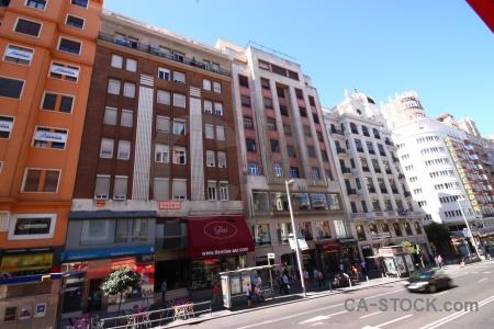 Madrid road europe building spain.