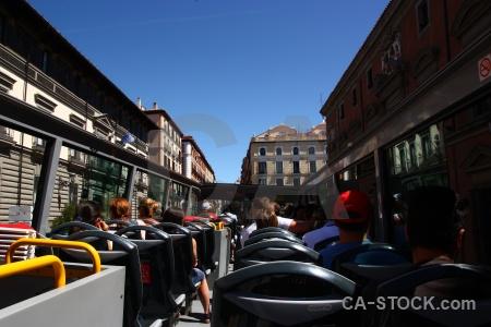 Madrid spain building europe bus.