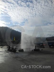 Mae chedi mai geyser southeast asia water thailand.