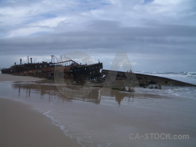 Maheno shipwreck vehicle rust ship.