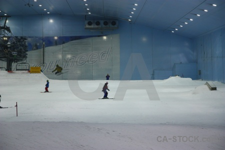 Mall of emirates middle east uae person skiing.