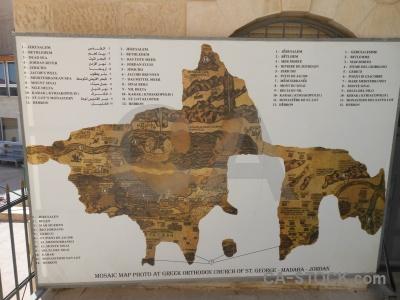 Map sky church madaba jordan.