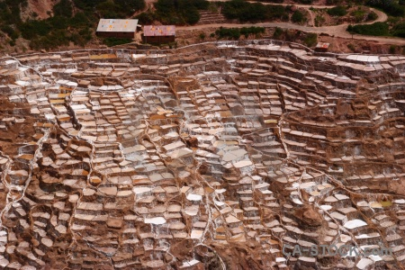 Maras south america pool salt mine rock.