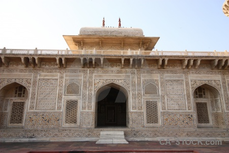 Marble agra india tile archway.