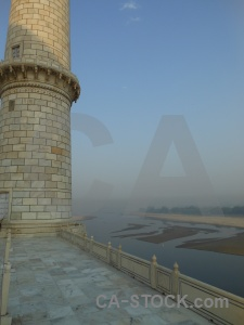 Marble minaret palace building tower.