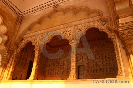 Marble monument archway agra fort.
