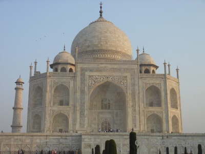 Marble sky south asia india archway.