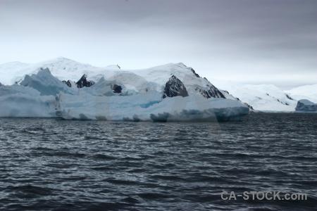 Marguerite bay snowcap antarctica cruise sea sky.