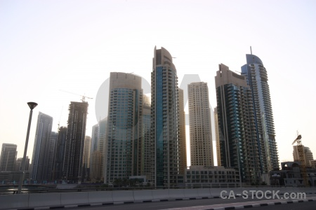 Marina asia skyscraper middle east uae.