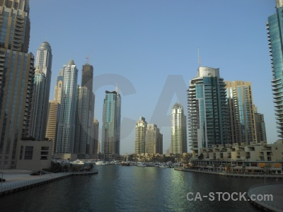 Marina uae canal asia middle east.