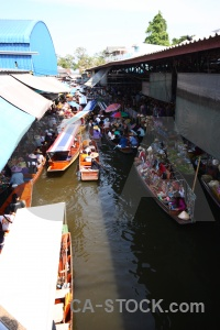 Market building floating southeast asia person.