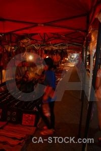 Market southeast asia person unesco luang prabang.
