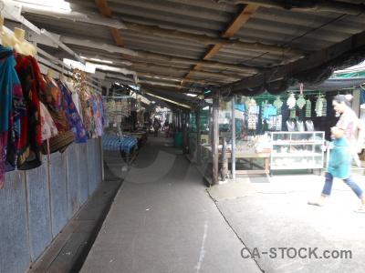 Market thailand person island phang nga bay.
