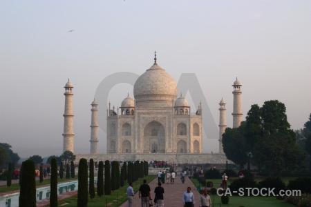 Mausoleum building marble sky mumtaz mahal.