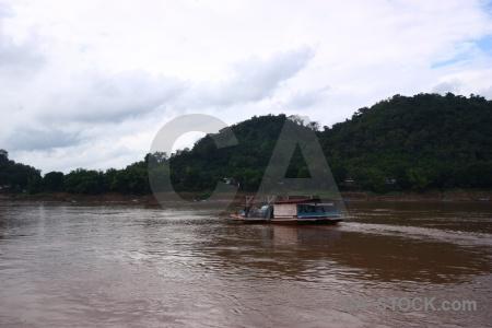 Mekong river unesco laos southeast asia boat.
